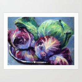 Radicchio & Cabbage Art Print
