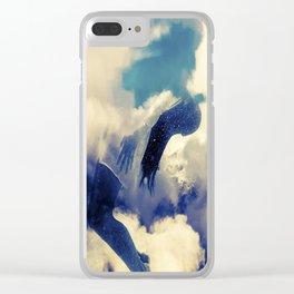 Woman and sky Clear iPhone Case