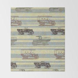 Vintage Truck Pattern Throw Blanket