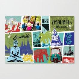 Bangkok Collage Canvas Print