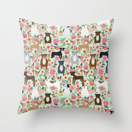 Pitbull florals mixed coats pibble gifts dog breed must have pitbulls florals Throw Pillow