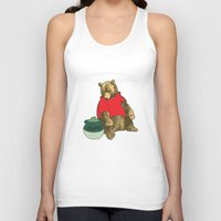 pooh Tank Tops featuring Pooh! by Pieterjan Arends