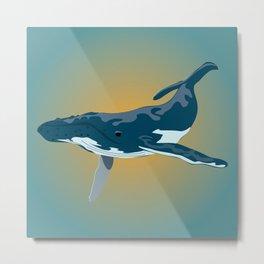 Mr. Whale Metal Print