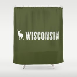 Deer: Wisconsin Shower Curtain