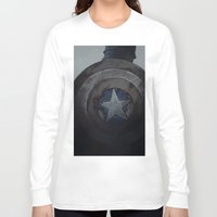 steve rogers Long Sleeve T-shirts featuring Captain Steve Rogers by yurishwedoff