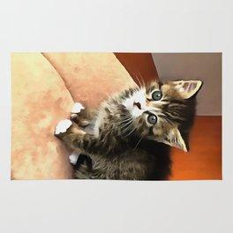 Tabby Cat Named Pipsqueak  Rug