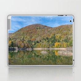 Autumn lake view in France Laptop & iPad Skin