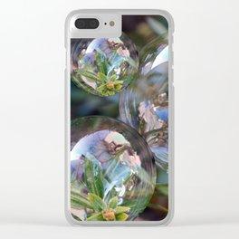 Flower bubbles Clear iPhone Case