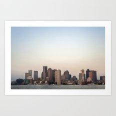 Boston Skyline Art Print