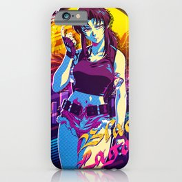 black lagoon retro iPhone Case