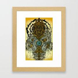 FUNKY TOTEM Framed Art Print
