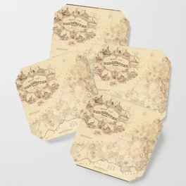 Map Of Dorchester 1850 Coaster