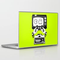 joy division Laptop & iPad Skins featuring Joy(stick) Division by Roberlan Borges