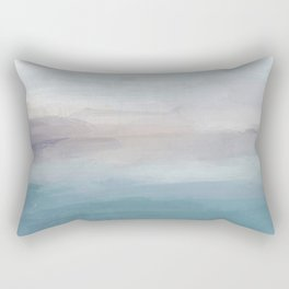 Light Gray, Mauve, Turquoise Aqua Blue Print Modern Wall Art, Abstract Painting Rectangular Pillow