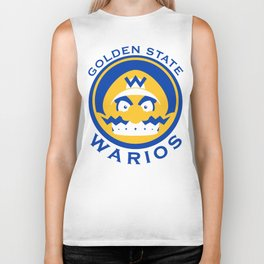 Golden State Warios - Mushroom Kingdom Champs Biker Tank