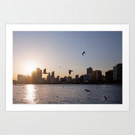 Haeundae Beach Skyline Art Print