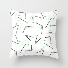 Learn Your Angles Throw Pillow