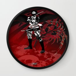 twin bladed ninja geisha Wall Clock