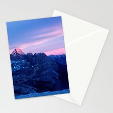 Romantic Sunset in the Snowy Mountains #2 #art #society6 Stationery Cards