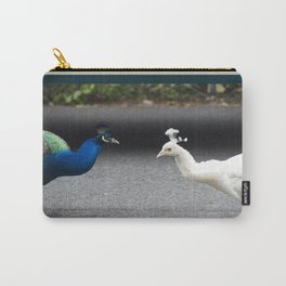 Mirror Image in Blue and White Carry-All Pouch