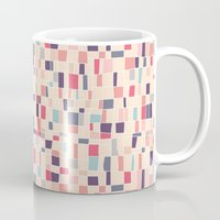 grid Mugs featuring grid by Marta Olga Klara