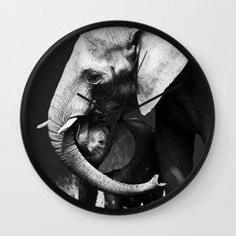 Elephants Love Wall Clock