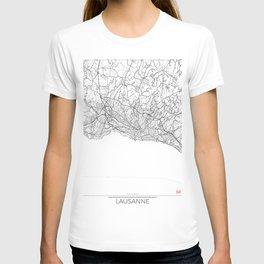 Lausanne Map White T-shirt
