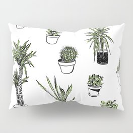 Plant Wall Succulent Pattern Pillow Sham