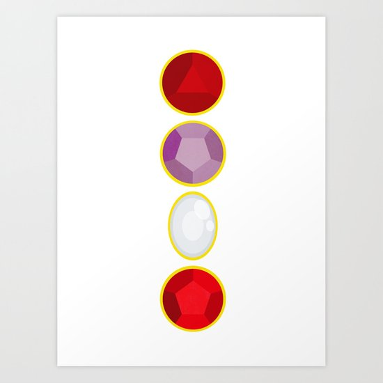 We Are The Crystal Gems Art Print