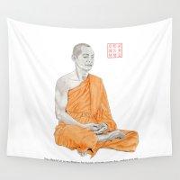 buddha Wall Tapestries featuring Buddha by Bryan James