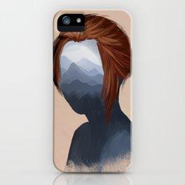 Mountain girl iPhone Case