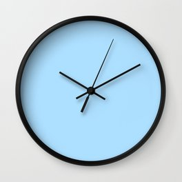 Solid Pale Light Blue Color Wall Clock