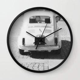 fiat 500 car - hers Wall Clock