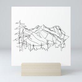 Squamish Summits :: Single Line Mini Art Print