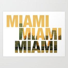 Miami Landscape Art Print