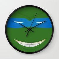 leonardo Wall Clocks featuring Leonardo by OhBretterson