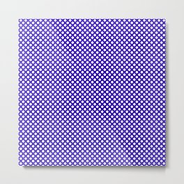 Blue Gem and White Polka Dots Metal Print