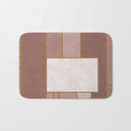 ABSTRACT GEOMETRIC 02 (marble) Bath Mat