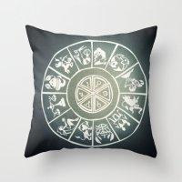 "zodiac Throw Pillows featuring ""Zodiac"" by DiegoC"