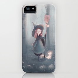 Little Forest Witch - Green iPhone Case
