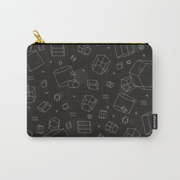 Third Dimensional Pattern: Dark Carry-All Pouch