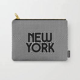 New York City Text Pattern USA Carry-All Pouch