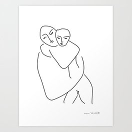 Matisse - Mother and son Art Print