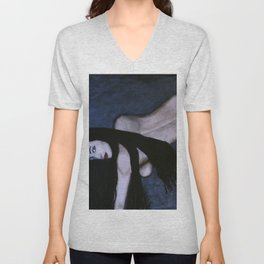Sensual Dark Beauty Unisex V-Neck