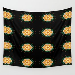 Yellow flower motif Wall Tapestry
