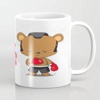 boxing Mugs featuring Boxing Bears by Yolanda Yvette