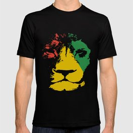 Jamaica Lion Mens Reggae Jamaican Bob Music Jamaica T-Shirts T-shirt