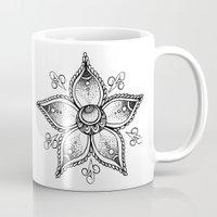 henna Mugs featuring Henna Flower by Ava Elise