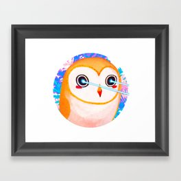 Barn Owl Laser Framed Art Print