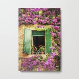 Happy Window Metal Print